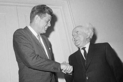 President Kennedy With David Ben Gurion